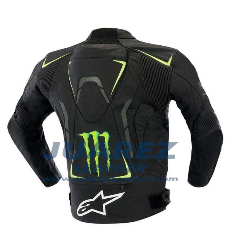 Monster Energy Street Racing Motorcycle Leather Jacket