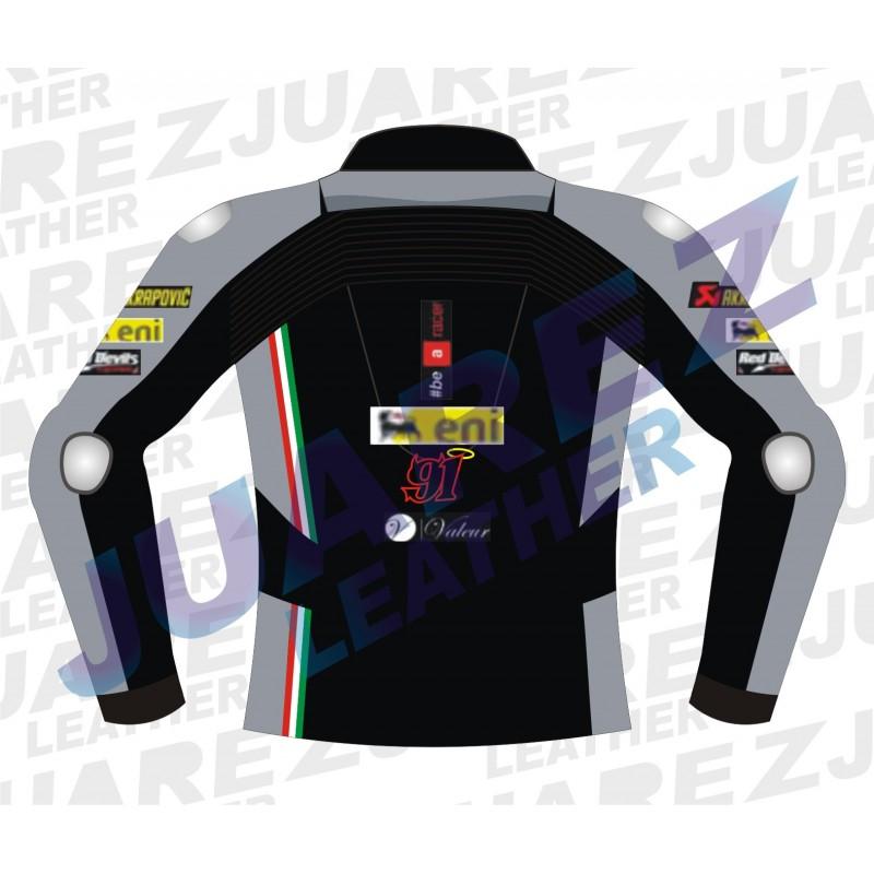 Aprilia 2015 WSBK Racing Leon Haslam Leather Jacket