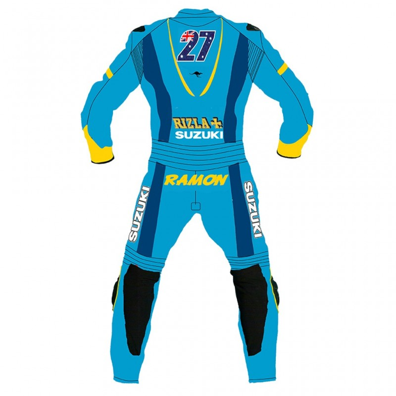 Suzuki Rizla Motorcycle Racing MotoGp Leather suit