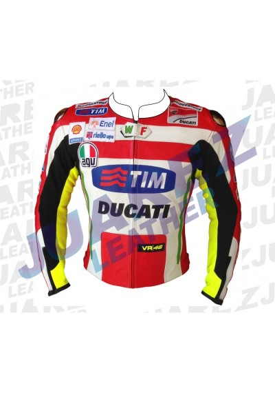Ducati Corse Motogp 2012 Valentino Rossi Leather Jacket