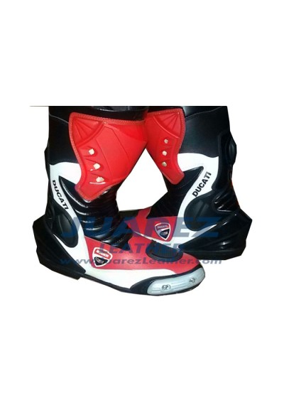 Ducati Motorbike Street Racing Leathers Boots