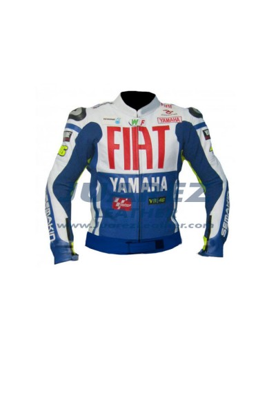 Fait Yamaha MotoGp Valentino Rossi Leather Jacket