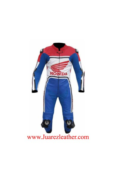 Honda Motorbike Motorcycle Riding Biker Custom Leather Suit