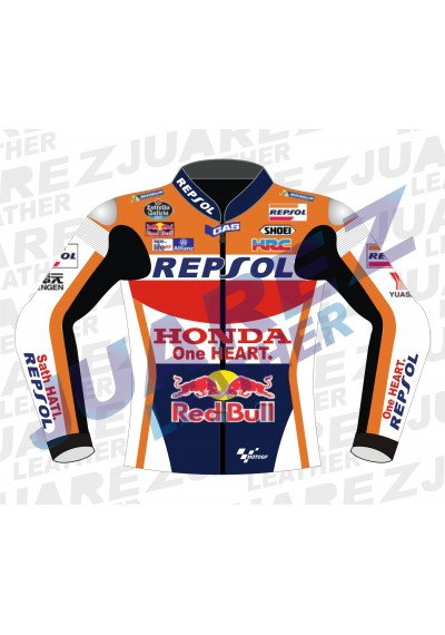Honda Repsol Marc Marquez 2016 Red Bull Motogp Race Leathers Jacket