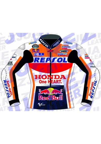 Honda Repsol Marc Marquez 2017 Red Bull Motogp Race Leathers Jacket