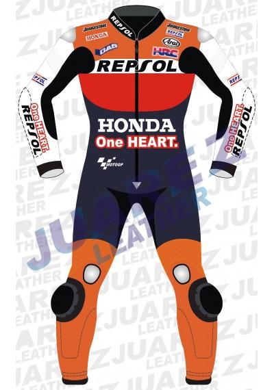 Honda Repsol One Heart Motogp Racing Leather Suit Dani Pedrosa