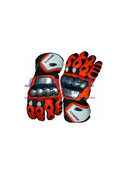 Honda Repsol Motorcycle Racing Leather Gloves