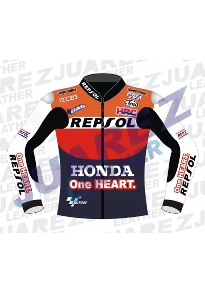 Honda RepsolOne Heart Motogp Leather Jacket Dani Pedrosa