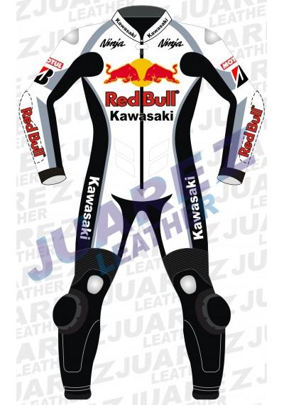 Kawasaki Ninja Redbull Motorcycle Racing Leather Suit