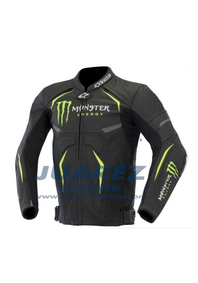 Monster Energy Street Racing Motorcycle Leather Jacket