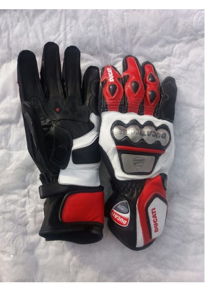 Motorbike Motorcycle Moto Ducati Leather Gloves Racing Leather Gloves