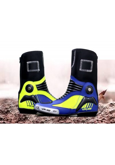 Motorbike Motorcycle Moto VR 46 Leather Boots Leather Shose Race Leather Boots