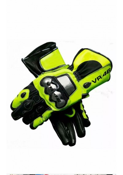 Motorbike Motorcycle Moto VR 46 Leather Gloves Motogp Gloves Race Leather Gloves