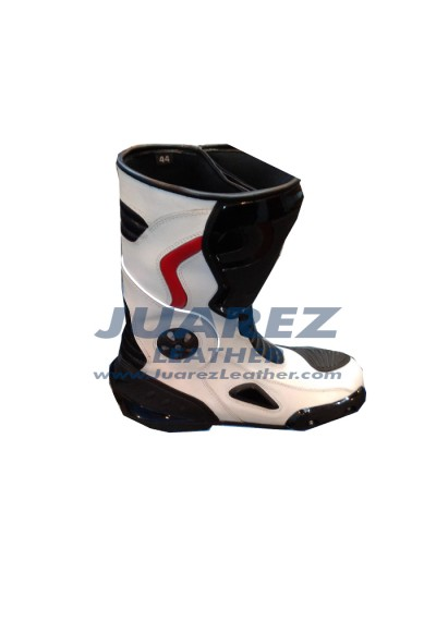 Motorcycle Street Racing Leather Boots
