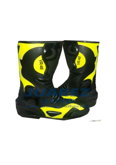 VR 46 Street Racing Leathers Boots