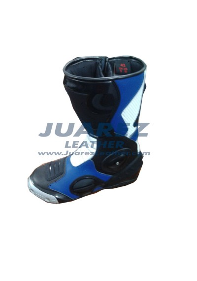 Racing Leon Haslam BMW 1000RR WSBK Leather Boots