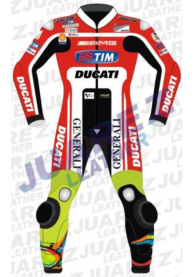 Valentino Rossi Ducati Corse MotoGp 2011 Leather Suit