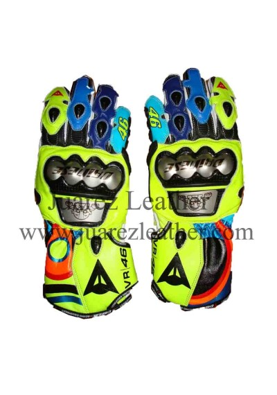 Valentino Rossi Motogp Race 2017 Vr 46 Leather Gloves