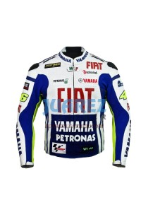 Racing Yamaha Fiat Valentino Rossi 2010 Motogp Race Leather Jacket