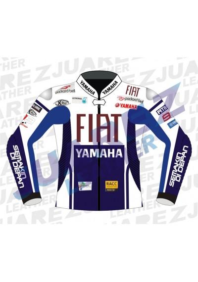 Jorge Lorenzo Motogp 2010 Fiat Yamaha Leathers Jacket