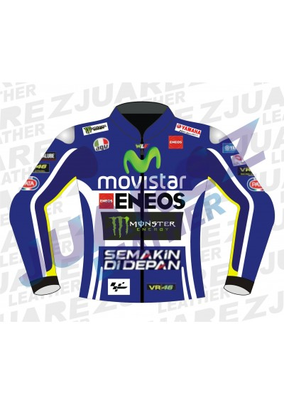 Yamaha Movistar MotoGP 2014 Valentino Rossi Leather Jacket