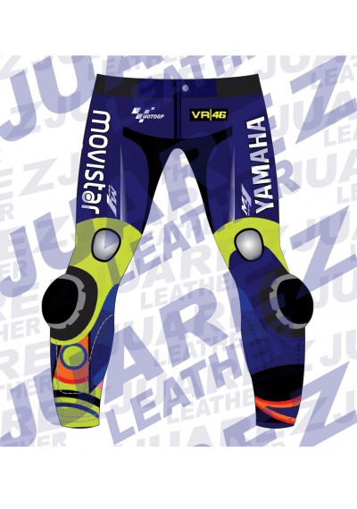 Motogp 2017 Race Movistar Yamaha Valentino Rossi Leather Pant