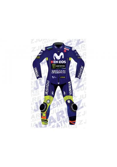 Motogp 2018 Race Movistar Yamaha Valentino Rossi Leather Suit