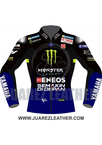 Yamaha Movistar Motogp 2019 Race Valentino Rossi Leather Jacket