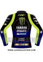 Yamaha Movistar Motogp 2019 Race Valentino Rossi Leather Jacket