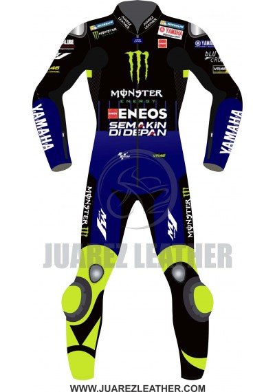 Motogp 2019 Race Movistar Yamaha Valentino Rossi Leather Suit