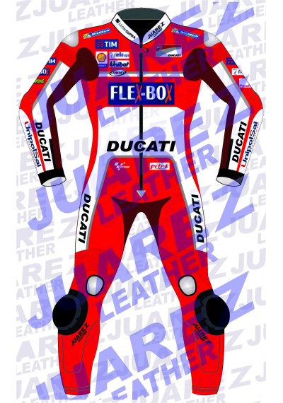 Andrea Dovizioso Motogp Race 2017 Ducati Leathers Suit