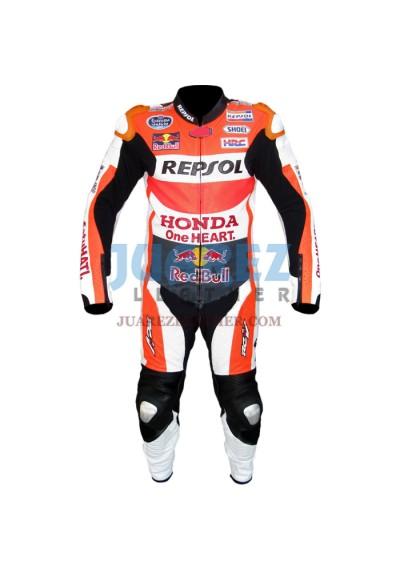 Honda Repsol Marc Marquez 2015 Red Bull Motogp Race Leather Suit