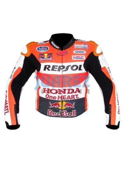 Honda Repsol Marc Marquez Motogp 2015 Red Bull Leather Jacket