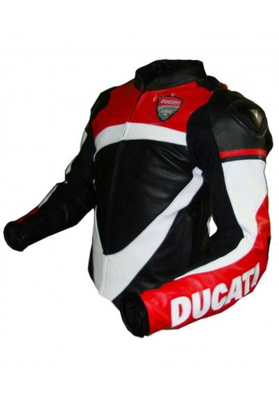 Ducati Corse 2013 Street Racing Motorcycle Leather Jacket