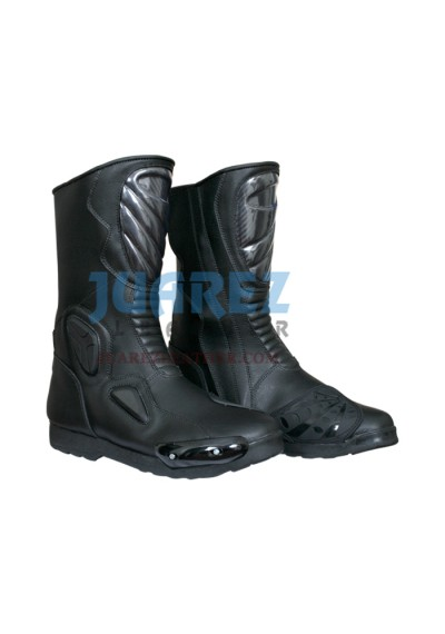 Motorcycle Street Racing black Leather Boots
