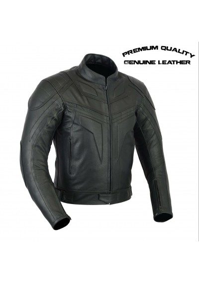 Black Biker Motorcycle leather Jacket