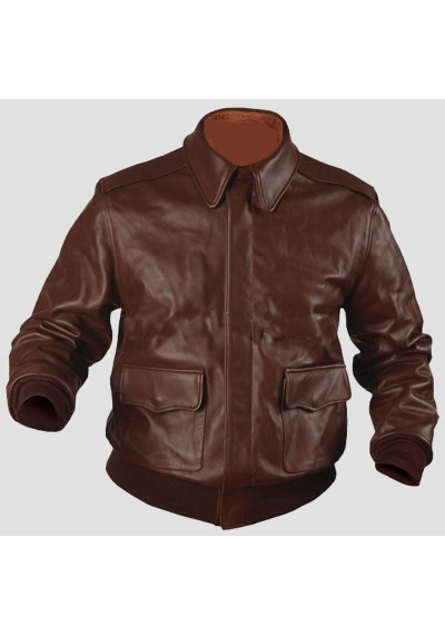 A 2 Flight Flying Airforce Bomber Pilot Leather Jacket