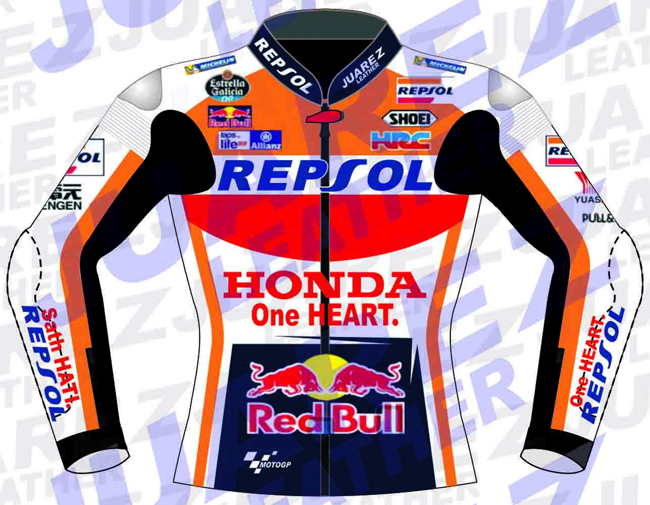 Red bull leather jacket